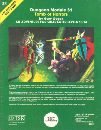 Tomb of Horrors PnP conversion