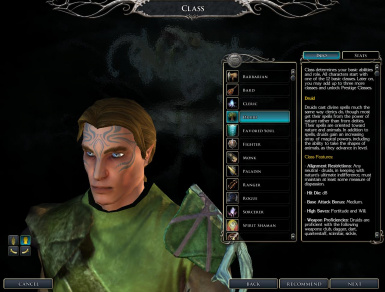 Default Male Elf Used Ingame - One Of Many Combinations