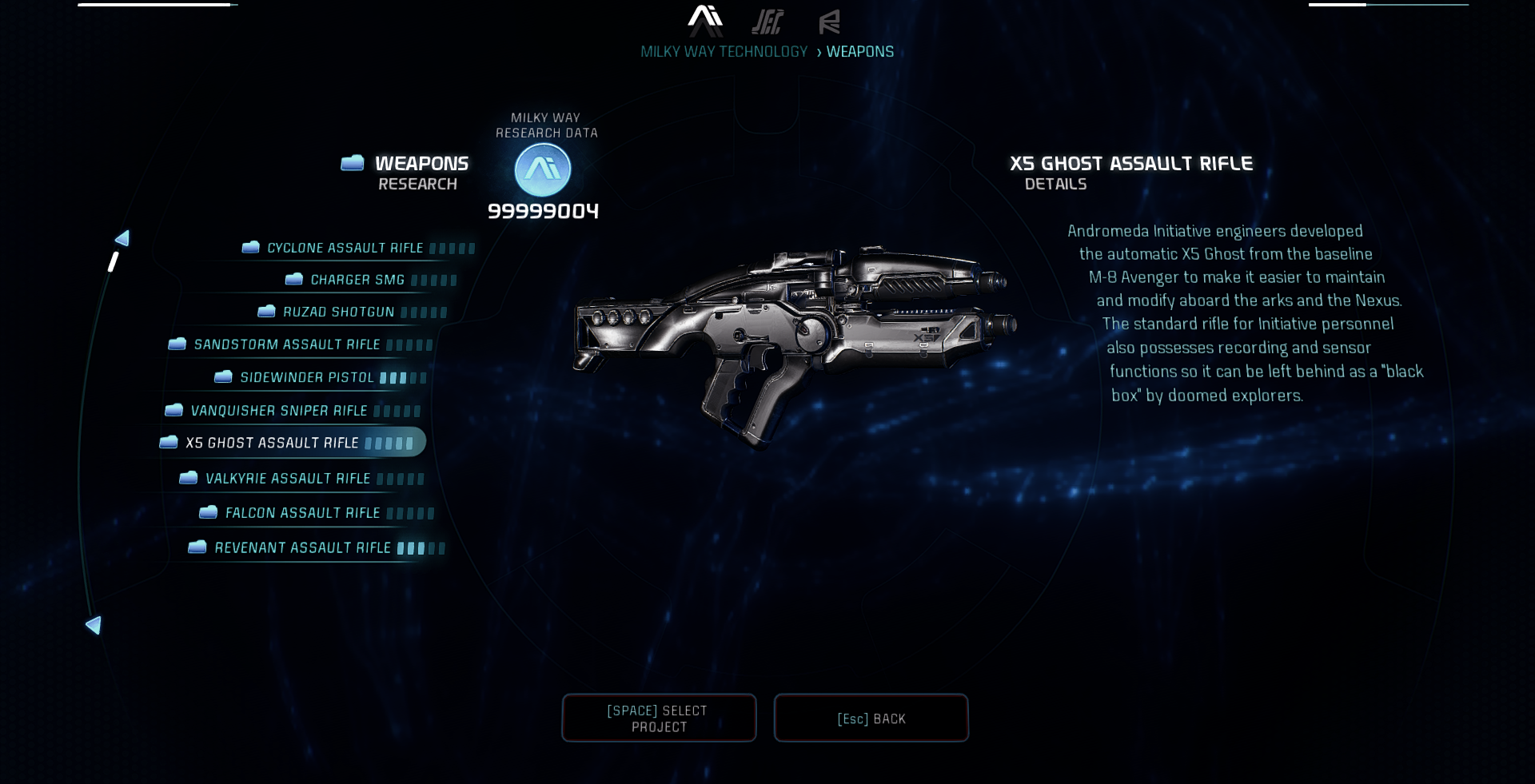 Mass Effect Andromeda X5 Ghost: Black X5 Ghost At Mass Effect Andromeda Nexus