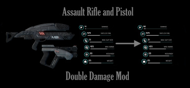 Double Damage Assault Rifles and Pistols