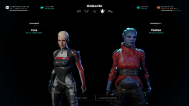 Cora Red Tint and PeeBee Red Jacket with Black Shorts_PeeBee face is Unmasked Peebee by Yeul