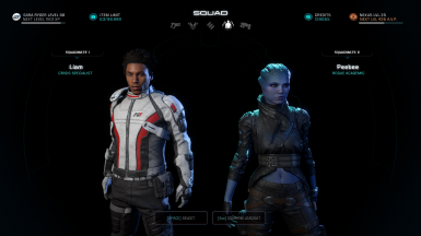 Liam Red Tint _ PeeBee Black Jacket and Black Shorts