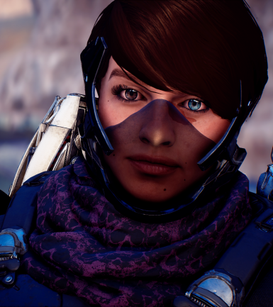 Peebee s Breather -Black Visor- and Heterochromia