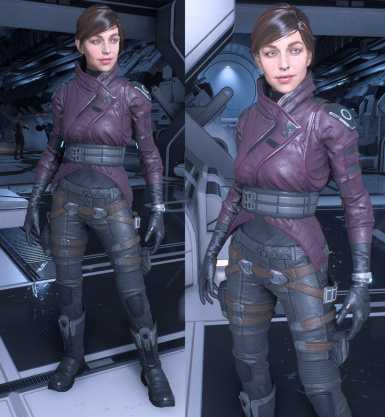 Recolors Mauve Leather Black Shirt