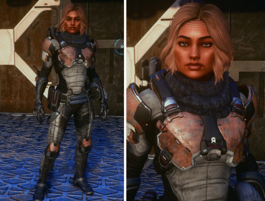 Scavenger Armor Scarf Retexture - in game