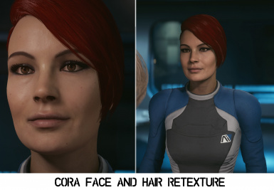 Cora - Face and Red Hair Retexture