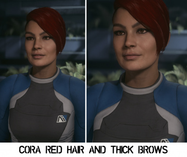 Cora - Red Hair and Thick Brows