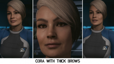 Cora - Face Retexture with Thick Brows
