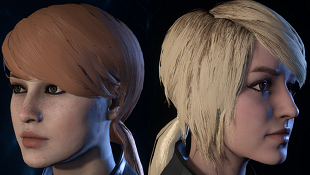 Lani Low Ponytail Hair Combinations For Sara (All Presets)