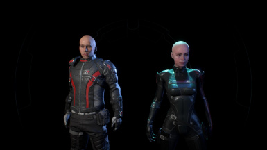 Team Bald - My mod combined with other texture mods.