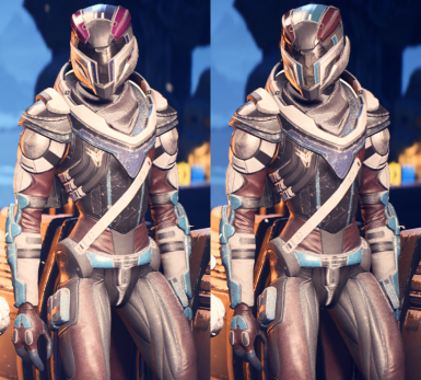 Vetra's Matching Helmet Before/After