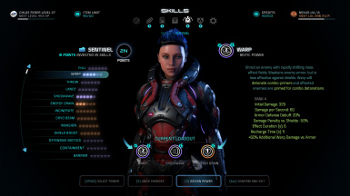 Skill Screen (with Classes mod)