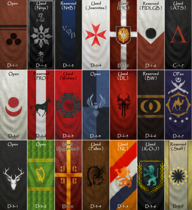 Warband cRPG Arked-Draggon Medieval Clan Banner Pack