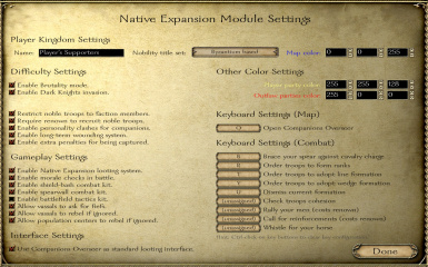Native Expansion is fully customizable
