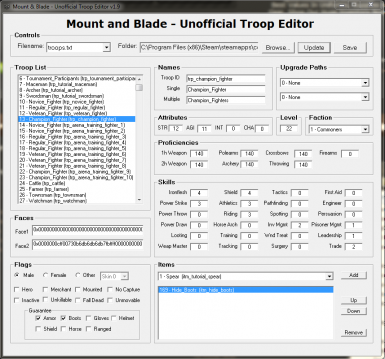 M&B - Unofficial Troop Editor