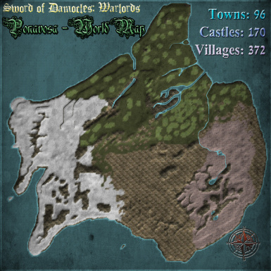 Ponavosa World Map Overview
