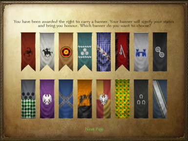 New banners set for mount and Blade Warband