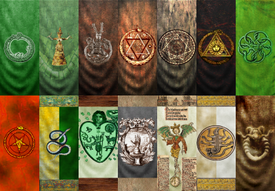 Ouroboros Banner and assorted Snakes