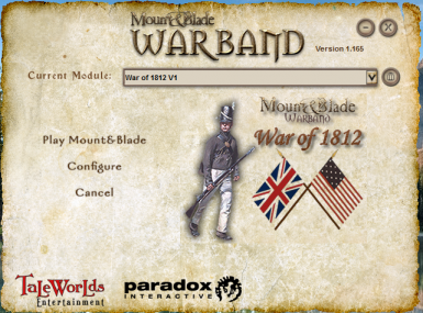 War of 1812 Splash Screen