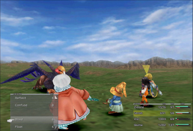 FFIX  Scaled Battle UI