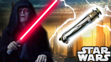 Emperor Palpatine's Lightsaber And Robe