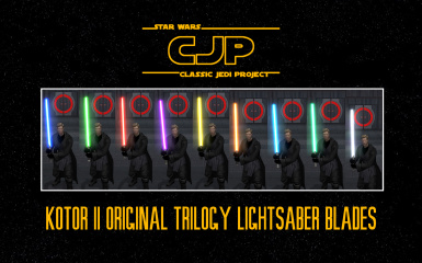 Classic Jedi Project KOTOR II Original Trilogy Lightsaber Blades (Animated)
