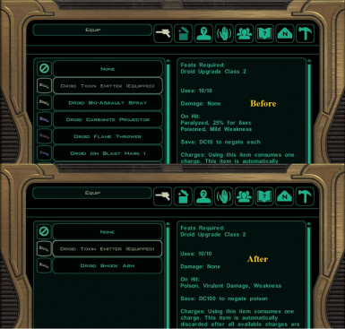 Droid special weapons fix for TSL