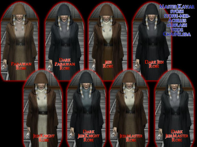 TSL Kreia's Assorted Robes Collection