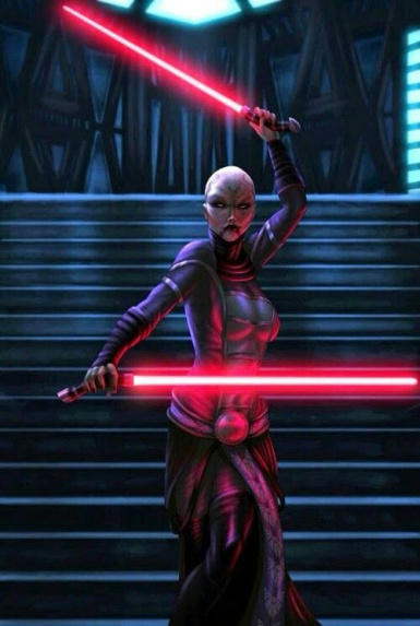 Asajj Ventress as a Selectable PC with Sabers - K1 and K2