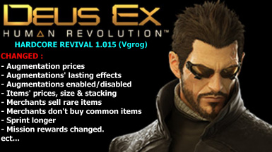 MOD Hardcore Revival for Deus Ex Human Revolution