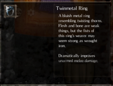 Twinmetal Ring placed into world map