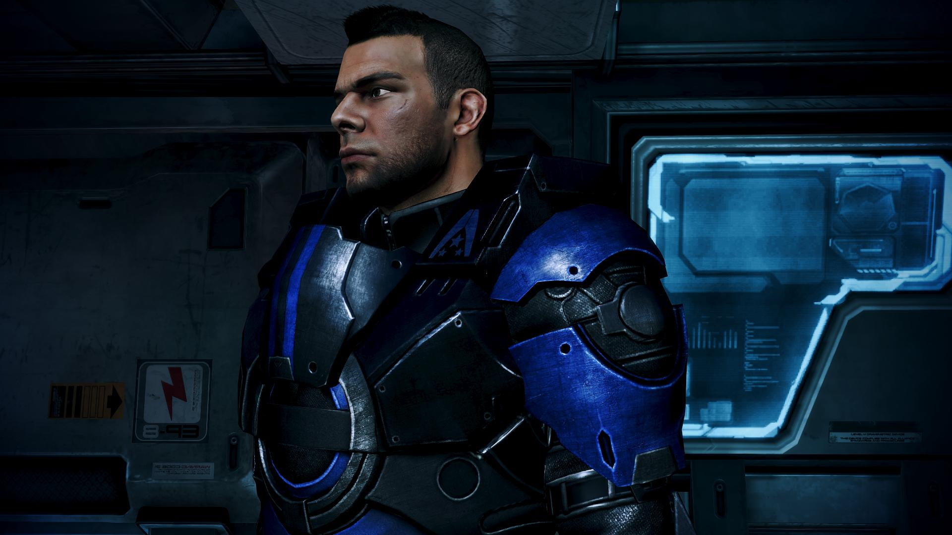 Shepard Blue From Ashes Armor at Mass Effect 3 Nexus