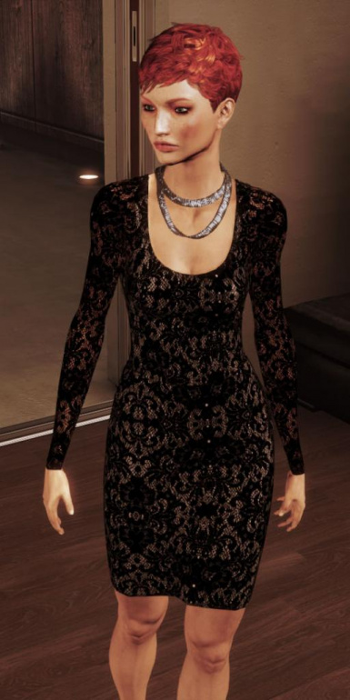 Black Lace or Velvet Dress for Femshep