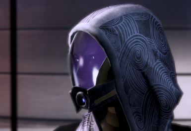 Tali with new reflective-glowing eye slits texture 1