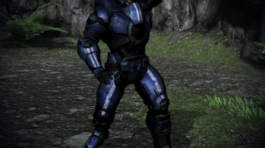 Shepard Blue From Ashes Armor