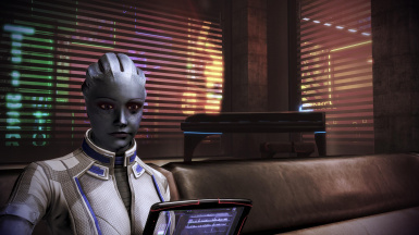 Liara chilling out
