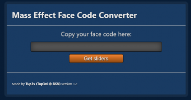 Mass Effect Face Code Converter