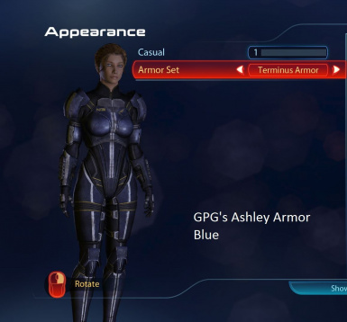 Ashley Armor Blue
