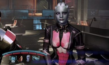 Liara CE Armour Forehead Plate Gone