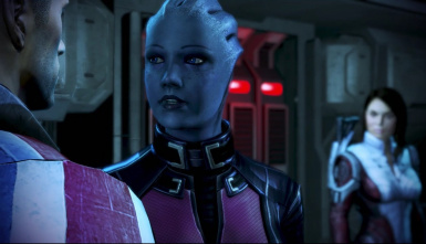 Liara on the way to Thessia