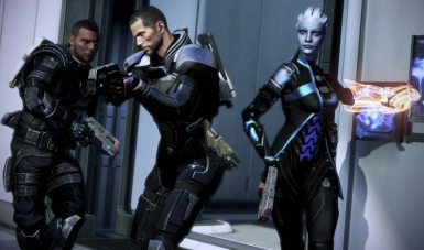 Shepard and her his team with Carnifex Pistol  1