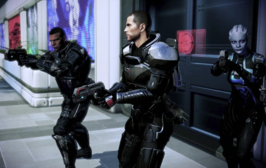 Shepard and her his team with Carnifex Pistol  2