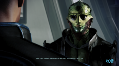 MaleShep/Thane romance dialogue at Huerta