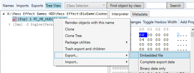 Export embedded files such as BioSWF