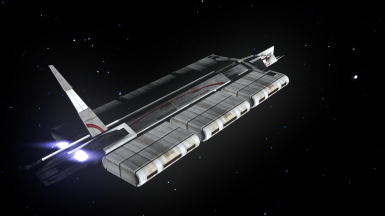 Test render of a Kowloon Class Freighter