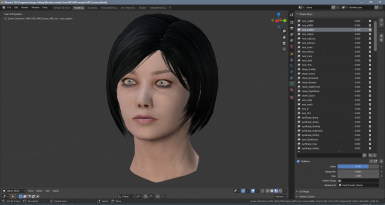 ME3 base female head model with morph shapes
