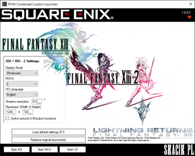 Final Fantasy XIII series Combined Custom Launcher