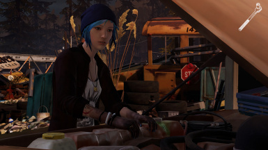 Play as 19-year-old Chloe (beanie and jacket)