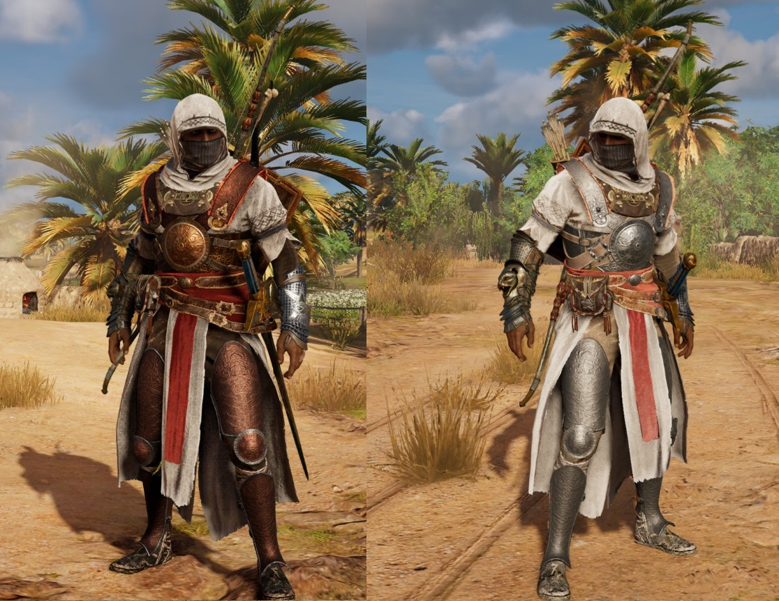 silver persian leader armor at assassins creed origins