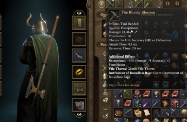 The Bloody Blossom New Unique Pollaxe At Pillars Of Eternity 2